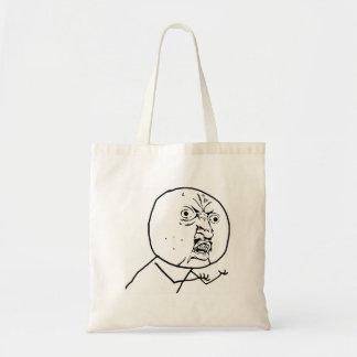 Y U No Guy Comic Face Tote Bag