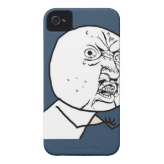 Y U No Guy Exploitable Comic Face iPhone 4 Case-Mate Cases