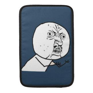 Y U No Guy Exploitable Comic Face Sleeve For MacBook Air