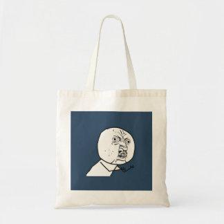 Y U No Guy Exploitable Comic Face Tote Bag