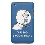 y u no rage face comic lol rofl iPod touch case