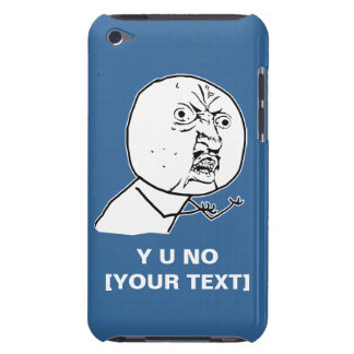 y u no rage face comic lol rofl iPod touch case
