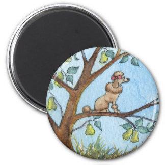 … Y un poo-oodle en un peral… Imán Redondo 5 Cm