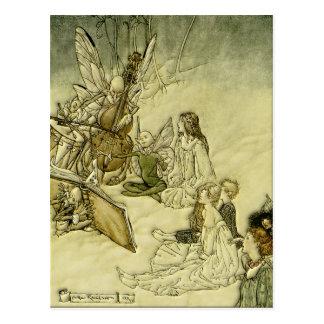 Y una canción de hadas - Arturo Rackham Tarjetas Postales