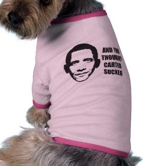 Y usted pensó Carretero chupado Camiseta Con Mangas Para Perro