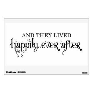Y vivieron feliz nunca después de etiqueta de la p