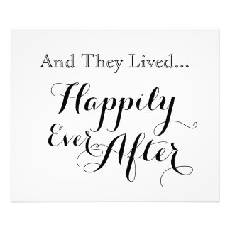 Y vivieron feliz nunca después de la impresión cojinete