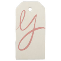Y WOODEN GIFT TAGS