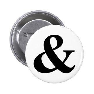 Y y atajo del icono del símbolo del Logogram del Pin Redondo De 2 Pulgadas