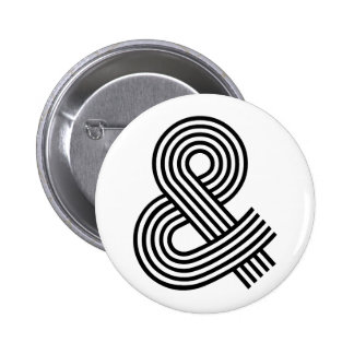 Y y atajo del icono del símbolo del Logogram del s Pin Redondo De 2 Pulgadas
