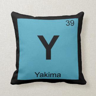 Y - Yakima Washington Chemistry Periodic Table Pillows