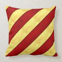 Y Yankee Watercolor Nautical Signal Maritime Flag Throw Pillow