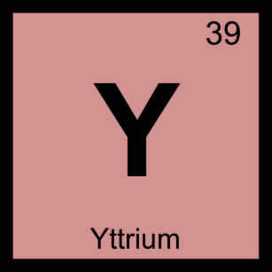 Yttrium t shirts shirt designs zazzle y yttrium chemistry periodic table symbol t shirt urtaz Images
