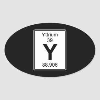 Y - Yttrium Oval Sticker