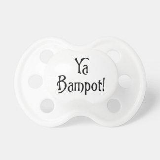 Ya Bampot Funny Scottish Slang Saying Pacifier