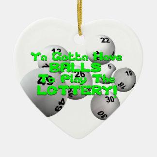 ¡Ya consiguió tener bolas para jugar la lotería! Adorno Navideño De Cerámica En Forma De Corazón