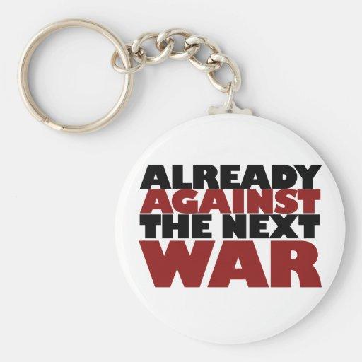 Ya contra la guerra siguiente llavero redondo tipo pin