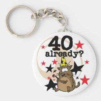 Ya cumpleaños 40 llavero personalizado