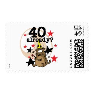Ya cumpleaños 40 sellos