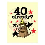 Ya cumpleaños 40 tarjeta postal