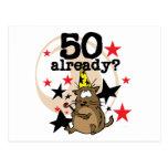 Ya cumpleaños 50 tarjeta postal