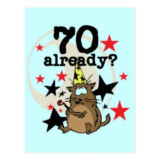 Ya cumpleaños 70 postales