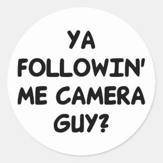 Ya Followin' Me? Classic Round Sticker