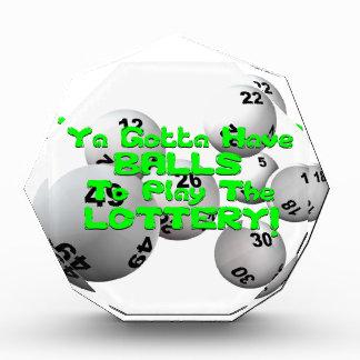 Ya Gotta Have Balls To Play The Lottery! Award