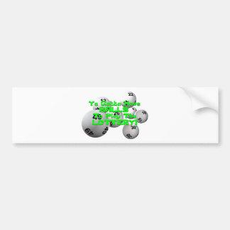 Ya Gotta Have Balls To Play The Lottery! Bumper Sticker