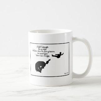 Ya gotta know how to fall coffee mug