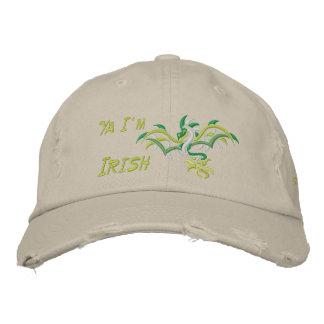 Ya I'm Irish Embroidered Baseball Caps