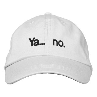 Ya… ningún gorra personalizado gorra bordada