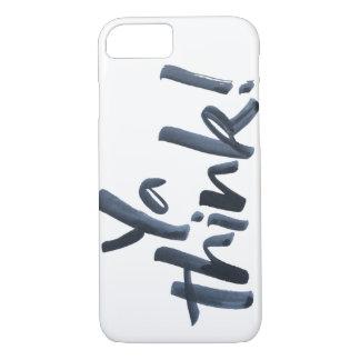 """""""Ya piensa!"""" teléfono con argot de las letras de Funda iPhone 7"""