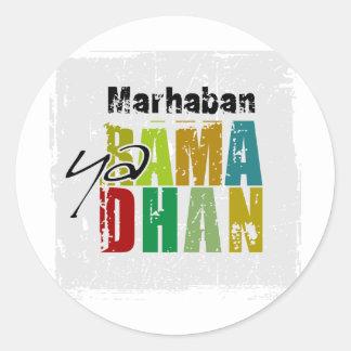 Ya Ramadhan de Marhaban Etiquetas Redondas
