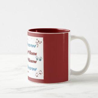 Ya sabe taza de café de dos colores