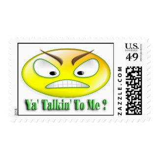 Ya' Talkin' To Me Smiley Stamp