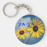 YA-YA Sunflowers Basic Round Button Keychain