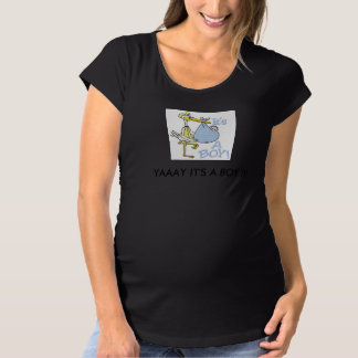 YAAAY IT'S A BOY! MATERNITY T-SHIRT
