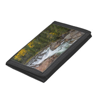 Yaak Falls In Autumn In The Kootenai National Trifold Wallet
