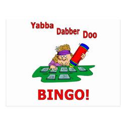 Yabba Dabber Doo - BINGO Postcard