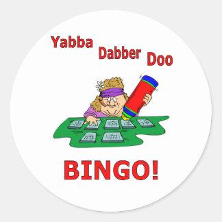 Yabba Dabber Doo - BINGO Round Stickers