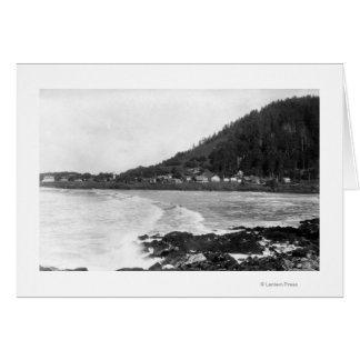 Yachats, Oregon Town View and Ocean Photograph Card