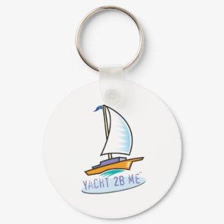 Yacht 2B Me_Logo Boat keychain