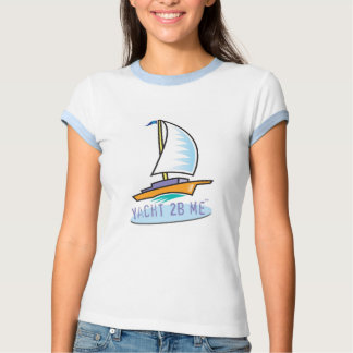 Yacht 2B Me™_Logo Boat Toddler Twofer T-shirt
