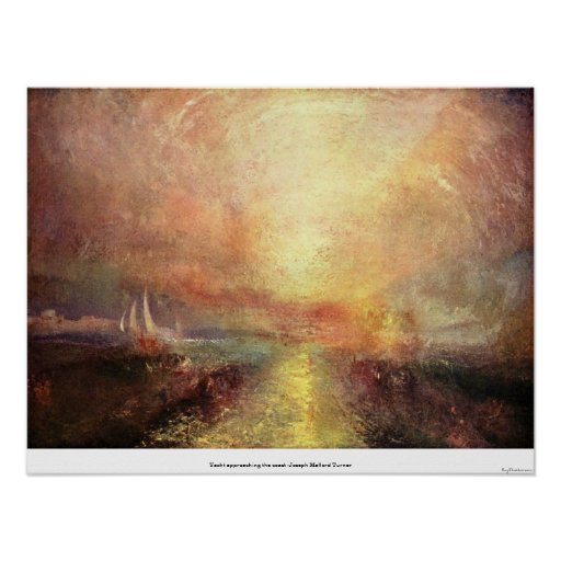 Yacht approaching the coast -Joseph Mallord Turner Poster