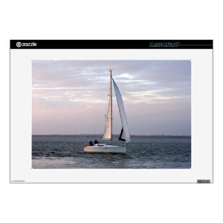 "Yacht at sunset, Isle of Wight 15"" Laptop Skin"