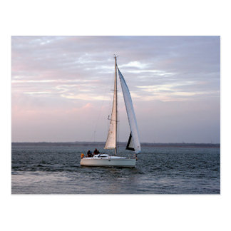Yacht at sunset, Isle of Wight Postcard