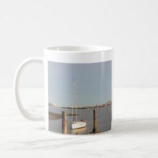 Yacht Bliss Entering Harbour Coffee Mug