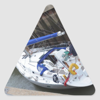 Yacht Bliss In The Lock Triangle Sticker