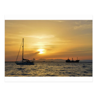 Yacht Blue Moon Postcard